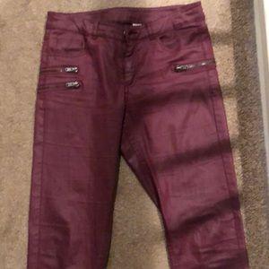 H&M wine/ burgundy pants!